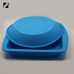 Wholesale Electronic Cigarette Tray - Newest Nonstick wax silicone rond box dry herb vaporizer Silicone Deep Dish Tray Container for Electronic Cigarette