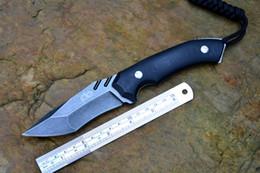 coltelli fisici tattici coltelli kydex Sconti Y-START caccia fissa coltello da campeggio escursionismo tattico coltello lupo strumento esterno AUS-10 lama G10 maniglia Kydex guaina spedizione gratuita