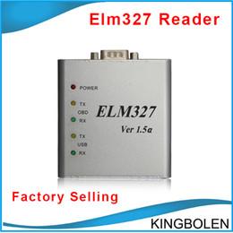 Wholesale Elm327 Usb Scanner Tool - Wholesale ELM327 USB CAN-BUS Scanner V2.1 Metal ELM 327 OBD OBD2 OBD II Auto Diagnostic tool DHL Free Shipping