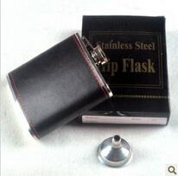 Wholesale Pocket Flask 8oz - Wholesale 800pcs lot Flask 8oz Portable Stainless Steel Flagon Wine Bottle Russian flagon Pocket Flask with PU leather wrap RJ3253