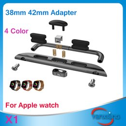 Wholesale Steel Connection - CHpost Stainless steel Watch Band Connection Adapter Band Adapter For Apple Watch 38mm 42 mm 4 color ZY-PJ-001