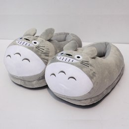 "Wholesale Indoor Slippers For Kids - My Neighbor Totoro Plush Shoes Soft Winter Indoor Slippers For Adult 11""28cm"