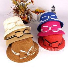 Wholesale Small Brim Summer Hats - Wholesale-Women's summer hat sun hat sunbonnet bucket hat beach cap small fedoras sun hat strawhat