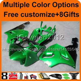 Wholesale 99 Zx7r Plastics - 23colors+8Gifts GREEN motorcycle cowl For Kawasaki zx7r 97 98 99 00 01 02 03 ZX 7R 1997 1998 1999 2000 2001 2002 2003 ABS Plastic Fairing