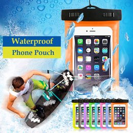 Wholesale Blackberry Seal - Universal Waterproof Phone Case Bag 6 inch Transparent Sealed Touchable Pouch Diving Photographed Phone Bag for iPhone Samsung
