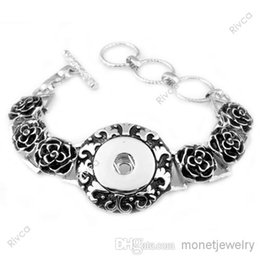 Wholesale Shell Buttons China - F00158 new hottest classic noosa chunks bracelet snap button jewelry