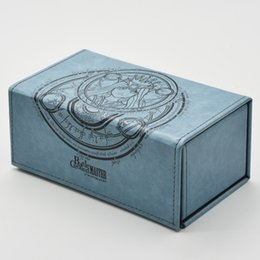 Wholesale International Cards - Wholesale- Time Walker Genuine Leather Deck Cards Box High Quality Battle Ground Godness Deck Case Can Hold 180 Cards for MTG YGO FOW CFV