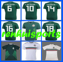 Wholesale first homes - 3 AAA 2017 2018 Mexico Jerseys green CHICHARITO G DOS SANTOS C VELA 17 18 home Jersey 10 or more free to send DHL First quality
