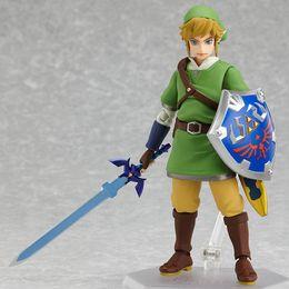 Wholesale Zelda Pvc Figure - The Legend of Zelda Link with Skyward Sword Figma 153 PVC Action Figure Collection Model Kids Toy Doll