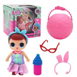 Wholesale Plastic Baby Dolls - 10CM LOL Surprise Doll Removable Packing Ball LiL Sisters Action Figures L.O.L. Surprise Dolls Set Dress Up Baby Spray Water Dolls Toy