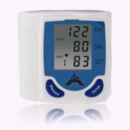 Wholesale Digital Wrist Heart Blood Pressure - Free DHL Digital LCD Wrist Arm Blood Pressure Monitor With Heart Beat Rate Pulse Measure Health Care Monitors