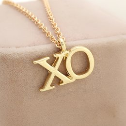 Wholesale Chain Necklaces Images - The Weeknd XO Fashion Image Custom Unique Personalized Dog Tag Necklaces Cute Initial Necklaces for Women