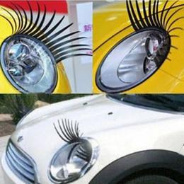 Wholesale Automotive Eyelashes - 3D Automotive eyelashes car eye lashes auto 3D Eyelash 3D car logo sticker 500pairs=1000pcs
