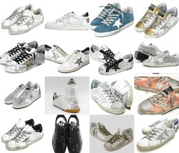 Wholesale Trend Casual Black Shoes - HOT Selling Italy Luxury superstar handwork do the old shoes leather Golden Goose GGDB Trend SuperStar men women Casual shoes size 34-46