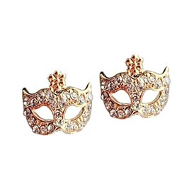 Wholesale Earring Mask Studs - Bohemia Stud Earrings Mask Earrings jewelry Love stud earring cheap earring free shipping