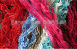 Wholesale Sheer Ribbon Wholesale - Mix colors 6mm elastic stretch velvet ribbon with organza sheer stretchy ribbons lace edged ribbons DIY ACCESSORIES 50yards.