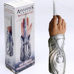 Wholesale Free Role Playing - NECA Assassins Creed Hidden Blade Brotherhood Gauntlet Replica Cosplay Assassin's Creed Anime Role play props Free Shipping Drop Shipping