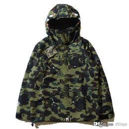 Wholesale Japanese Fashion Coats - Newest Fashion Men's Camouflage Men's Hoodies Windbreaker Hoodies Fashion Cardigan Leisure Coat Popular Brand Japanese Lapel Thin