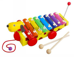 Wholesale Music Instruments Pianos - Lovely Funny Baby Child Dog and Cartoon Shaped Car Knock Piano Instrument Music Toy Gift New and Hot Selling 20pcs