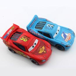 Wholesale Die Cast 64 - 2pcs Pixar Children mini cars mcqueen psiton cup 2 toys bus alloy metal die cast race truck car models alloy diecast car toys children
