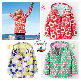 Wholesale Outerwear Water - girls jackets with hooded flower trench outerwear Kids coat Children Waterproof Kids Coats mountaineering jacket hooded windbreaker jacket