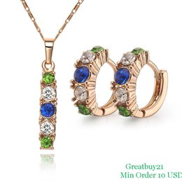 Wholesale Earrings Hoop 18kgp - ashion Jewelry Jewelry Sets 18KGP-S038 Free Shipping High Quality African Jewelry Sets 18K Gold Plated Necklace & Hoop Earrings Facto...