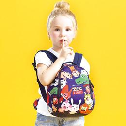 Wholesale Boy Stories - 2017 New Fashion Children Zoo Story Kindergarten Schoolbags Primary School Boys and Girls Cartoon Animal Backpack