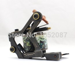 Wholesale Copper Coil Sales - Wholesale-Hot Sale New High Performance Copper Wire Cutting Tattoo Machine Gun for Liner or Shader Dual 10-Wrap Coils Supply Free Shipping