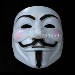 Wholesale Cool Halloween Costumes For Guys - Wholesale-2015 New Halloween Cosplay Cool V For Vendetta Anonymous Movie Adult Guy Costume Mask Free shipping