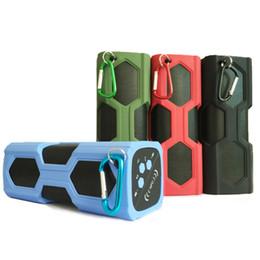 Wholesale Pt Audio - PT 390A 5Wx2 Wireless Bluetooth V4.0 IPX4 Waterproof Sports Speaker NFC Handsfree 3600mah Power Bank For Smart Phone DHL Free MIS091