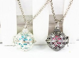 Wholesale Belly Ball Necklace - Wholesale- Hot Sale Butterflies Around DIY Locket Pendant Mexican Angel Caller Musical Pregnancy Baby Belly Ball Necklace