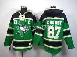 Wholesale penguin factory - Factory Outlet, top quality cheap Pittsburgh Penguins #87 Sidney Crosby Men's Jersey Hockey Hoodies Sweatshirts with size:m-xxl