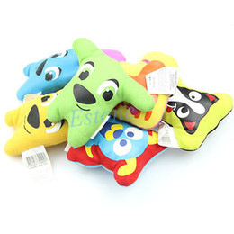 free funny cartoons Coupons - Wholesale-A96 Free Shipping 5pcs lot Dog Toy Pet Puppy Chew Squeaker Squeaky Plush Sound Cute Cartoon Style Funny Toy