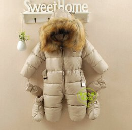 Wholesale Winter Snowsuits For Babies - Wholesale-russia winter clothing for newborns baby cotton - PU thermal overalls bodysuits coveralls,baby snow wear,baby winter snowsuits