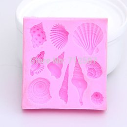 Wholesale Decorating Sets - Hot sales Lovely shell silicone mold Fondant Cake Decorating Tools Silicone Soap Mold Silicone Cake Mold