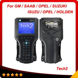 Wholesale Gm Tech Top Quality - 2015 Top Quality for GM TECH2 Full Set Support 6 Software for GM OPEL SAAB ISUZU SUZUKI HOLDEN Tech 2 Scanner + Candi DHL free shipping
