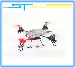 Wholesale V959 Rc Ufo - Wholesale-WL toys V959 2.4G 4-Axis Quad Copter 4CH RC Helicopter with Camera Lights and Gyro UFO Ready to Fly RTF QuadCopte supernova sale