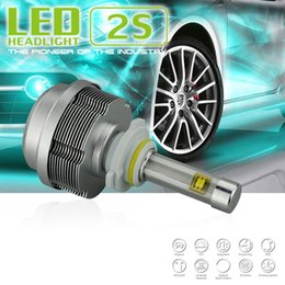 Wholesale Xenon H7 One - 1 Set 9005   9006 60W Pair 6400lm CREE ETI LED Headlight Single Beam HB3 HB4 2S All in One Xenon White 6000K 30W Bulb 3200lm H1 H3 H8 H9 H11