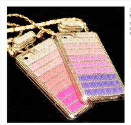 """Wholesale Iphone Case Perfume Bottle - Luxury perfume Bottle Chain Rhinestore For Iphone 4s 5s 6 case 4.7"""" Iphone 6 plus 5.5"""" Cases Diamond cell phone cases"""