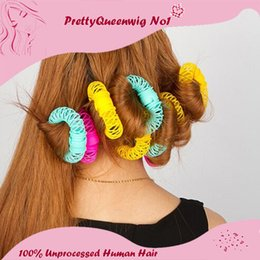 Wholesale Styled Wigs Curls - Hot Sale For Plastic Spiral Hair Curling Irons 2015 Free Shipping Hair Curlers Self-adhesive Styling Tools Wig Hair Accessories 04