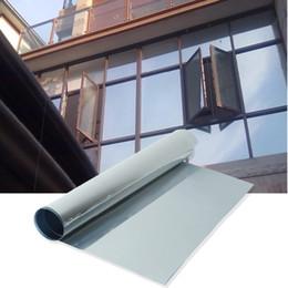 Wholesale Window Privacy Film - Transparent Privacy Black Silver Glass Films Window Film Sticker One-Way Mirrored Insulation Sunscreen 50*100cm