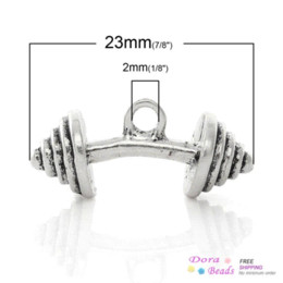 Charm Pendants Dumbbell Antique Silver Espiral patrón tallado 23 mm x 10 mm, 20 piezas (B34809) 8seasons lámparas de techo colgante desde fabricantes