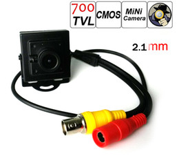Wholesale Surveillance Camera Lenses - 700tvl 1 3 inch CCTV Mini camera 700TVL CMOS Video Surveillance Security Camera 2.1MM Lens Free Shipping