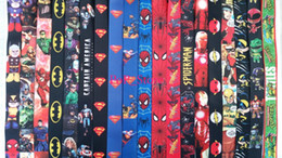 Wholesale Wholesale Free Delivery - DHL free shipping - wholesale Superhero Avengers Avengers Justice League Marvel Lanyards Keychain ID Badge Holder.Buy free delivery now