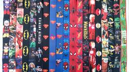 Cordão de super-herói on-line-DHL frete grátis por atacado Superhero Vingadores Vingadores Liga da Justiça Marvel Lanyards Keychain ID Badge Holder. Comprar entrega gratuita agora