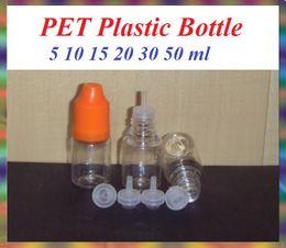Wholesale 15 Ml Plastic Dropper Bottles - PET Plastic Bottle 5 10 15 20 30 50 ML With Needle Cap Empty Dropper Bottles Child Proof plastic dropper bottle E-Cigarette FreeDHL