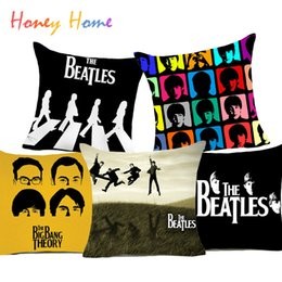 Wholesale Cushions Cover Cheap - The Beatles Polyester Cushion Cover Beatlemania British Rock Band Home Decorative Pillow Case for Sofa Car Cheap Cushion
