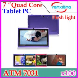 Wholesale Tablet Pc Mid Android Red - 7 inch Q8 Q88 ATM 7031 Quad Core Android Tablet PC 512M RAM 4G ROM Dual Cameras with Flash Android 4.4 YX-MID-27