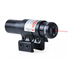 Wholesale Rifle Scope For Air Guns - Durable Hunting Mount Red Laser Dot Sight Scope For Air Gun Rifle Pistol Black Free shipping