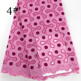 Wholesale Pink Tulle Fabric Netting - New Arrival 2017 High Quality Organze French net Lace Fabric With stones Tulle Lace Fabric For Big Occasion dresses black BLX1041 Pink